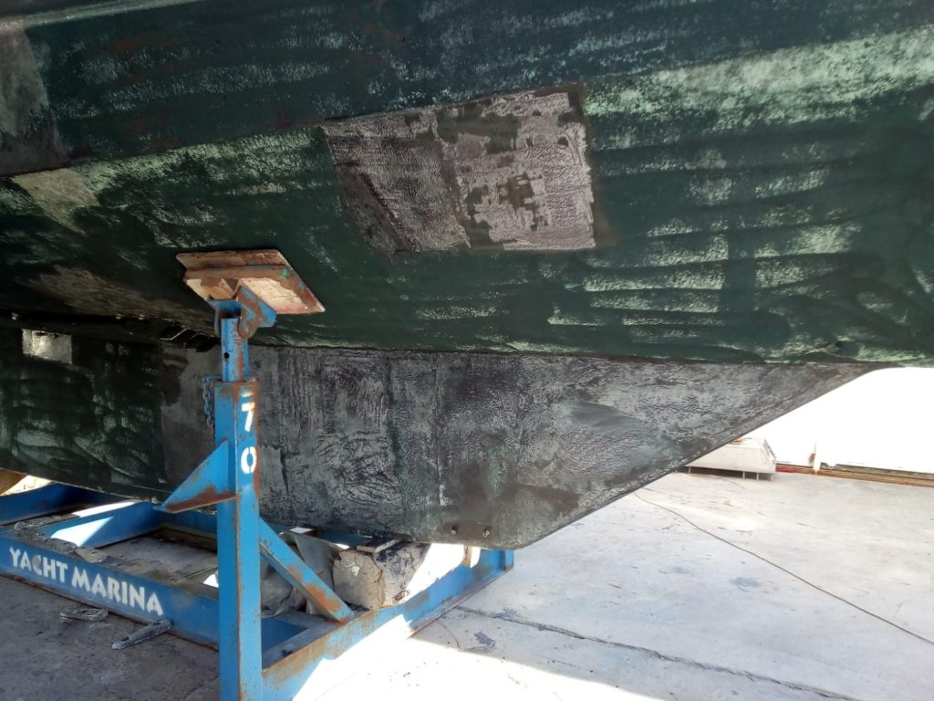Antifouling away and Epoxy Primer remains