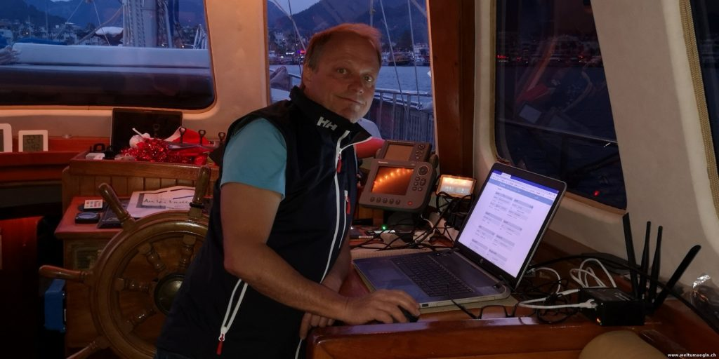 Internet an Bord einrichten